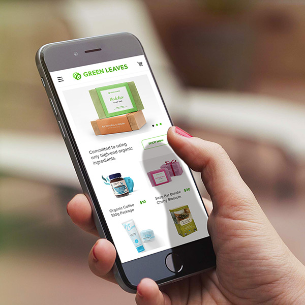 Green Leaves Mobile eCommerce Online Store
